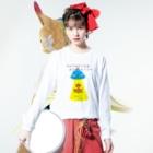 ひよこねこ ショップ 1号店のUFO Long sleeve T-shirtsの着用イメージ(表面)