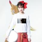 ぬちころぬっちゃんのビー玉 Long sleeve T-shirtsの着用イメージ(表面)