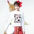 POTLUCK(ポットラック)のPOTLUCK Graffiti Pink Long sleeve T-shirtsの着用イメージ(表面)