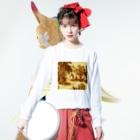 J. Jeffery Print Galleryのトワルドジュイ Toile de Jouy Long sleeve T-shirtsの着用イメージ(表面)