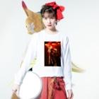 ___lunachanのh Long sleeve T-shirtsの着用イメージ(表面)