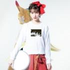 Shogo Hirokiの川 Long sleeve T-shirtsの着用イメージ(表面)