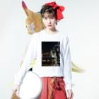 道行屋雑貨店の旅館明楽 2019  Long sleeve T-shirtsの着用イメージ(表面)