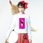yeSのpussy Long sleeve T-shirtsの着用イメージ(表面)