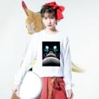 HIORIの月並び液垂れ Long sleeve T-shirtsの着用イメージ(表面)