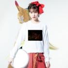 katagatanのヨザクラ Long sleeve T-shirtsの着用イメージ(表面)