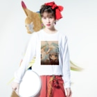 asahiyoruaの先生と魔女 Long sleeve T-shirtsの着用イメージ(表面)