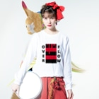REST IN PUNISHEDのOVER FLOW(Red) Long sleeve T-shirtsの着用イメージ(表面)