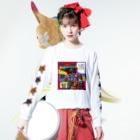 原田ちあきのコロナのばか Long sleeve T-shirtsの着用イメージ(表面)