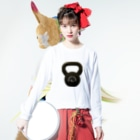 jiujitsuのビッグケトルベル Long sleeve T-shirtsの着用イメージ(表面)