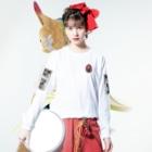 iheuyushi2のcheck your head Long sleeve T-shirtsの着用イメージ(表面)