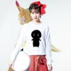 古春一生(Koharu Issey)のボク、生きてていいの? Long sleeve T-shirtsの着用イメージ(表面)