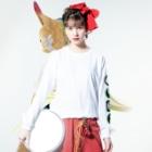 みっちーのGEKI CHUNI ROCK ロングTシャツ(緑) Long sleeve T-shirtsの着用イメージ(表面)