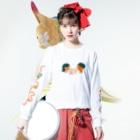 サイトウアケミのナポリタン・ラブ Long sleeve T-shirtsの着用イメージ(表面)