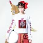 NATUのワロタ Long sleeve T-shirtsの着用イメージ(表面)