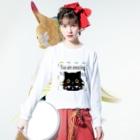 Myalmoのクリスチャンな黒猫グッズ Long sleeve T-shirtsの着用イメージ(表面)