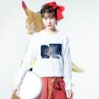 タダノユズのきっと、きっとよ Long sleeve T-shirtsの着用イメージ(表面)