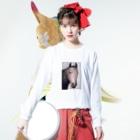 Honoka Kushidaのhuman? Long sleeve T-shirtsの着用イメージ(表面)