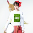 zikomanking SHOPのGREEN PLANT Long sleeve T-shirtsの着用イメージ(表面)
