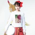 harucameraのharucamera お花 Long sleeve T-shirtsの着用イメージ(表面)
