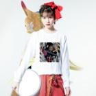 Sarahanna goodsのOh kinieeeee!!シリーズ Long sleeve T-shirtsの着用イメージ(表面)