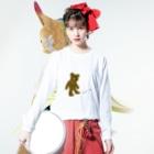 ZOZI SHOPのたそかれテディベア Long sleeve T-shirtsの着用イメージ(表面)