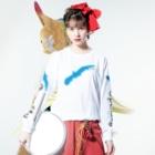 PetWORKs SUZURI ShopのOpenSky シルエット Long sleeve T-shirtsの着用イメージ(表面)