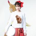 ファッションセンターつぶあんのつぶあん大きめプリントT Long sleeve T-shirtsの着用イメージ(表面)