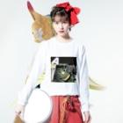 kuraffyのかぼちゃネコ Long sleeve T-shirtsの着用イメージ(表面)