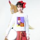 lightbluehourのムーンブルクの王女「メラ。」(from ドラゴンクエストⅡ) Long Sleeve T-Shirtの着用イメージ(表面)