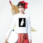 iminonaimojiの祈り Long sleeve T-shirtsの着用イメージ(表面)