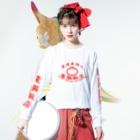 加藤亮の電脳飯店 Long sleeve T-shirtsの着用イメージ(表面)