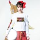 jyariの高円寺百鬼夜行 Long sleeve T-shirtsの着用イメージ(表面)