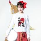 【天狗ch.】OFFICIAL GOODS STOREの天狗妖術ロンT Long sleeve T-shirtsの着用イメージ(表面)