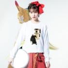 Rigelの江戸の花子供遊び 二番組め組 ロングスリーブTシャツ Long sleeve T-shirtsの着用イメージ(表面)