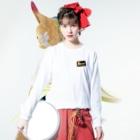 キリン二番搾りのビールモア Long sleeve T-shirtsの着用イメージ(表面)