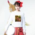 mariaMadeのもみじちゃん Long sleeve T-shirtsの着用イメージ(表面)