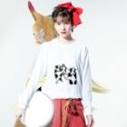 kurobee0510のうしダンス Long sleeve T-shirtsの着用イメージ(表面)