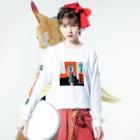 Ran KobayashiのRED RED WINE Long sleeve T-shirtsの着用イメージ(表面)