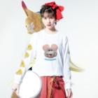 むにゅのちゅーきちとプクチー Long sleeve T-shirtsの着用イメージ(表面)