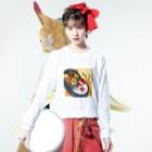 marinのハコイリムスメ(弁当箱) ロンT Long sleeve T-shirtsの着用イメージ(表面)
