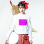 キヨペン堂のコメツブラザーズ ピンク Long sleeve T-shirtsの着用イメージ(表面)