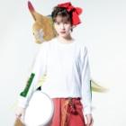 横浜ボーイ酒カウトの横浜酒童子団御札 Long Sleeve T-Shirtの着用イメージ(表面)