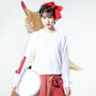 横浜ボーイ酒カウトの横浜ボーイ酒カウト御札 Long Sleeve T-Shirtの着用イメージ(表面)