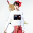 nyanbowの横浜夜景No.01 Long sleeve T-shirtsの着用イメージ(表面)