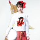 銭谷 耕大のキャップガール Long sleeve T-shirtsの着用イメージ(表面)