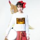 半年寝太郎のhalloween Long sleeve T-shirtsの着用イメージ(表面)