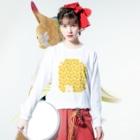 irodoruhanaの大仏(縦) Long sleeve T-shirtsの着用イメージ(表面)