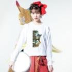ムクデザインのアカハラウロコインコ Long Sleeve T-Shirtの着用イメージ(表面)