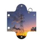 ちょりすけのナントカの夕焼け空と鉄塔 Mini Clear Multipurpose Case